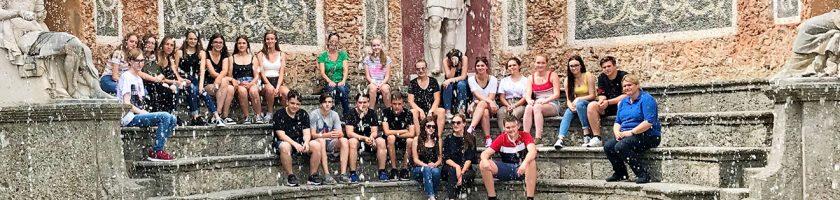 Schüler in Hellbrunn